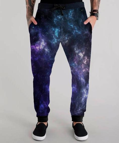 Calça Moletom Galáxia Espaço Galaxy Space Estrela Cosmo Star