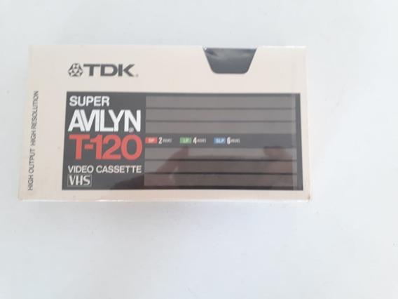 Fita Cassette Vhs Super Avilyn T-120 Virgem Lacrado!!!