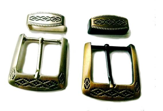 Hebillas Cinturón Hombre Gaucho Pampa Con Pasador Lote X 5