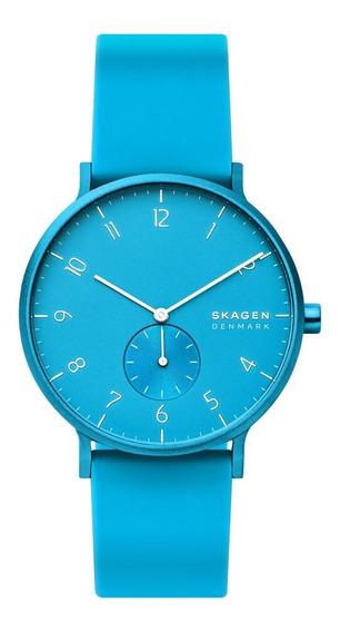 Reloj Unisex Skagen Aaren Kulor Neon Skw6555 Color Celeste