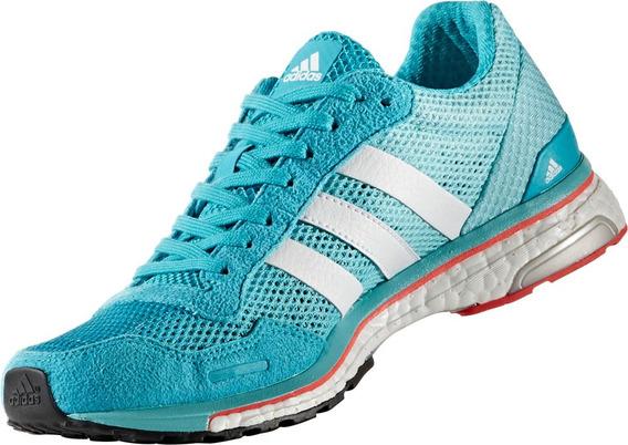 Tenis adidas Boost Mujer Azul Adizero Adios W Bb1710