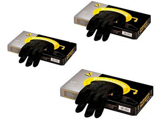 Guantes Latex Descartables Negros Professional 3 Cajas 20un