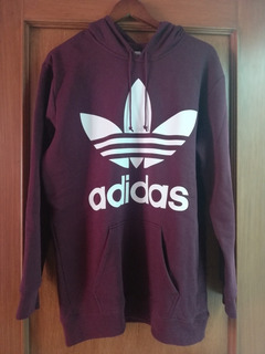 Sudadera Larga Color Vino adidas Original