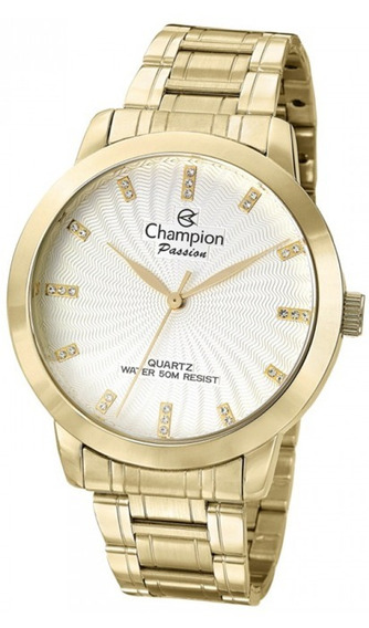 Relógio Feminino Dourado Champion Cn29276h