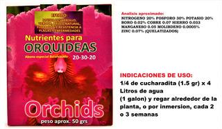 Nutrientes Para Orquideas Abono Especial Balanceado Orchids