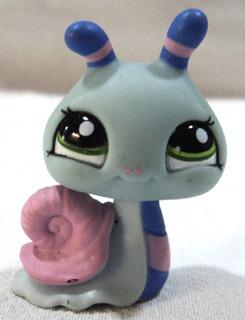 Littlest Pet Shop Original Caracol Celeste 2008 Hasbro