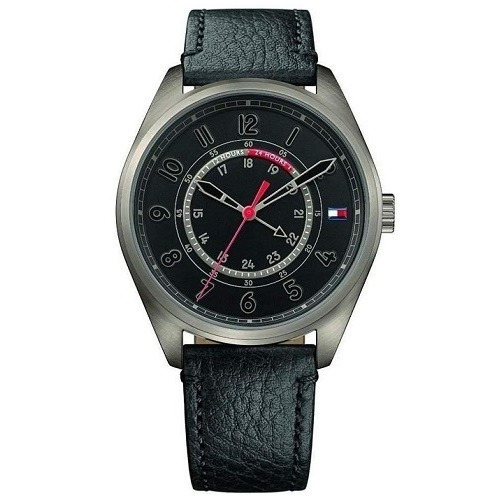 Relógio Tommy Hilfiger Masculino Couro Preto - C/ Garantia