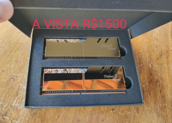 Memória 16gb Ddr4 4600mhz Tridentz Royal Samsung B-die
