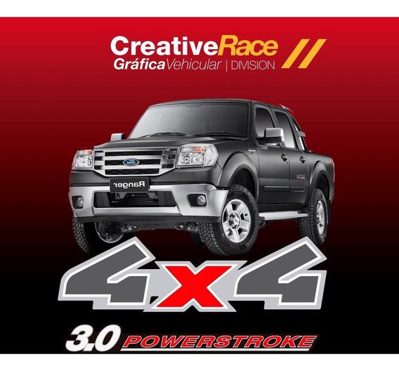 Calcos 4x4 Ford Ranger 2009-2011 + 3.0 Powerstroke