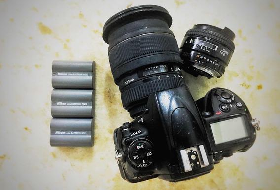 Câmera D700 + 24-70mm 2.8 Sigma + 35mm 2.0d + 2 Baterias