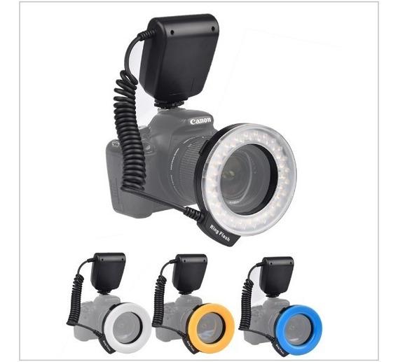 Iluminador Circular De 48 Leds Para Câmeras Canon, Nikon, Panasonic E Olympus