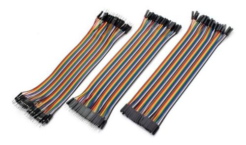 Kit 120 Cables 20cm Protoboard Arduino M M + M H + H H