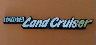 Emblema Toyota Land Cruiser Macho En Metal Pulido