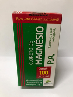 Cloreto De Magnésio 100cps 500mg