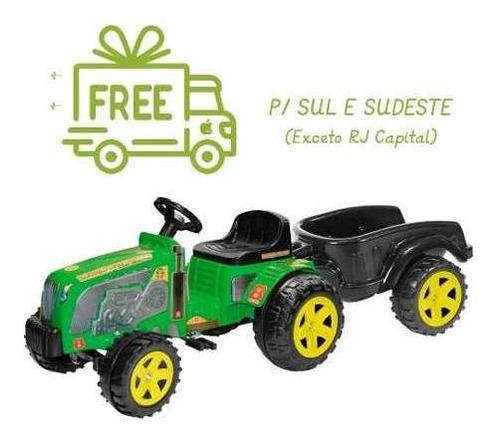 Mini Trator Infantil Pedal Fazendeiro Eco C/ Caçamba Biemme