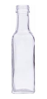 Botella Cuadrada 250 Ml Con Corcho (30 Pz)