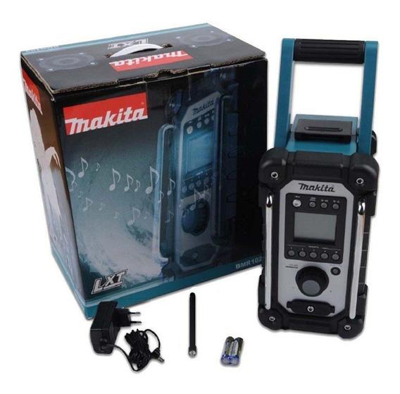 Radio - Som A Bateria 12v - 18volts E Energia Bmr102 Makita