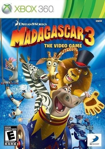 Jogo Madagascar 3 The Video Game Xbox360 Ntsc Em Dvd Origina