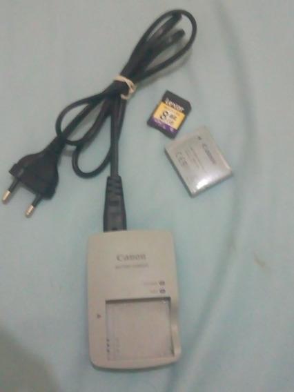 Carregador Bateria Canon Sx 170 Is + Bateria + Cartão 8 G