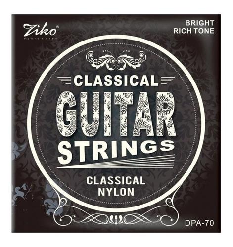 Imagen 1 de 4 de Cuerdas Guitarra Clasica Cuerda Ziko De Criolla Nylon