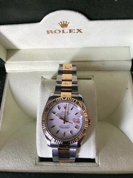 Rolex Turn-o-graph Aço E Ouro 18k Estudo Trocas