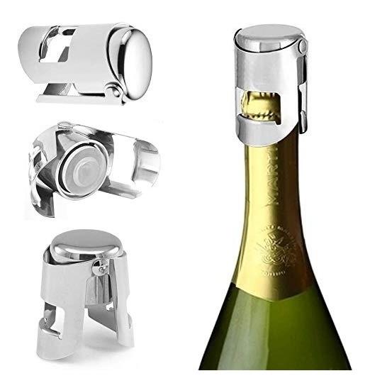 Tapon Conservador De Champagne Espumante Acero Inoxidable