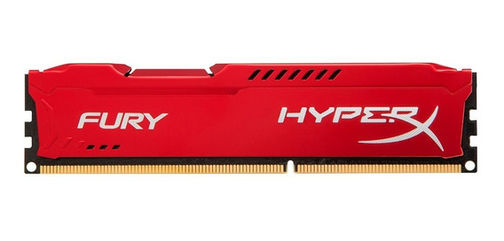 Memoria Pc Hyperx Fury Red Ddr3 4gb 1866mhz
