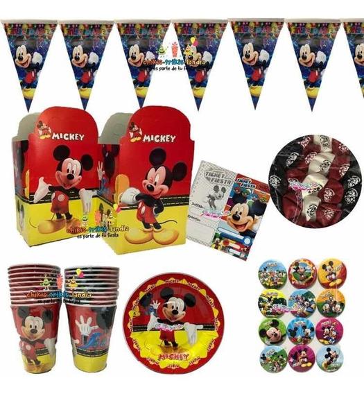 Mickey Mouse Arts Fiesta Globos O Platos O Dulceros O Vasos