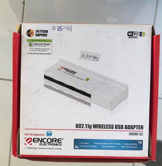 Adaptador Encore Wireless Usb Adapter 802.11g Enuwi-g2