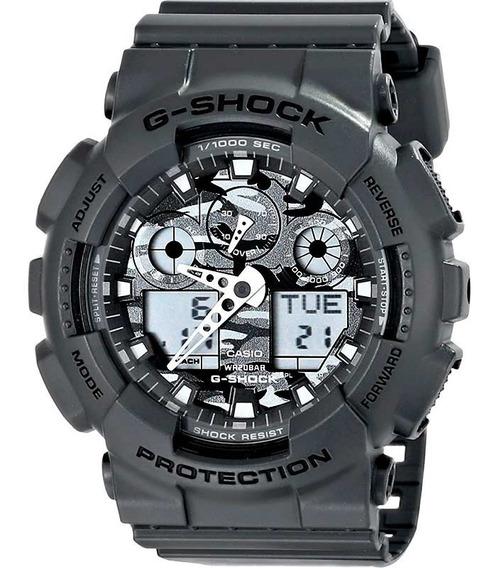 Relógio Casio G-shock Ga-100cf-8adr Camuflado Ga100 + Nfe