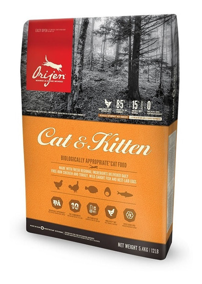 Alimento Gato Cat Y Kitten Orijen Cachorros Pollo 340gr