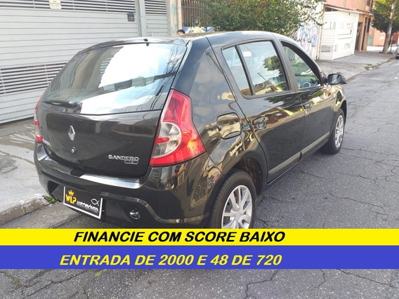 Renault Sandero 1.6 Completo Financiamento Com Score Baixo