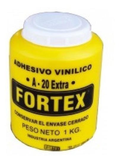 Adhesivo Vinilico Pegamento Fortex A20 X 1kg Carpinteria