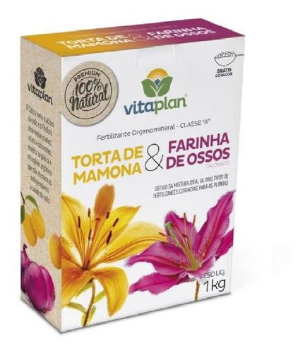 Imagem 1 de 1 de Torta De Mamona + Farinha De Ossos 1kg Nutriplan