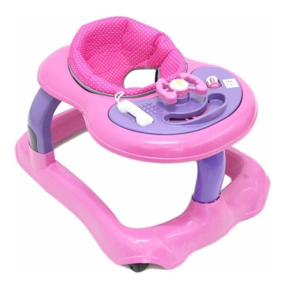 Andador Infantil Philpoo Musical Para Bebê Rosa Ou Azul
