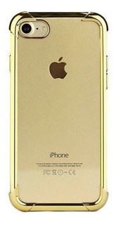 Capa Capinha Frente Verso 360 iPhone 6 Plus 6s Plus Dourada