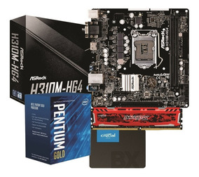 Kit Intel Pentium G5400 H310m Hg4 4gb Bls Ssd Bx240gb