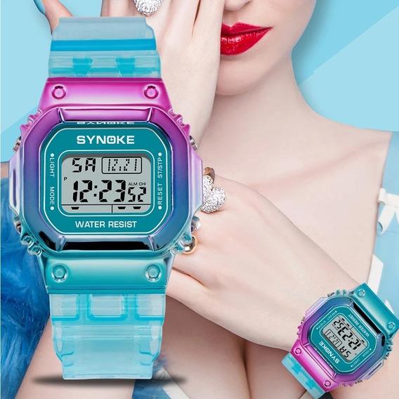 Relógio Feminino Synoke Multi Color Design