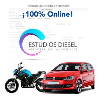 Informe De Dominio Automotor Auto Moto Urgente Online Dnrpa