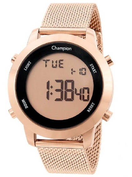 Relógio Champion Feminino Digital Ch40062x Rose Oferta