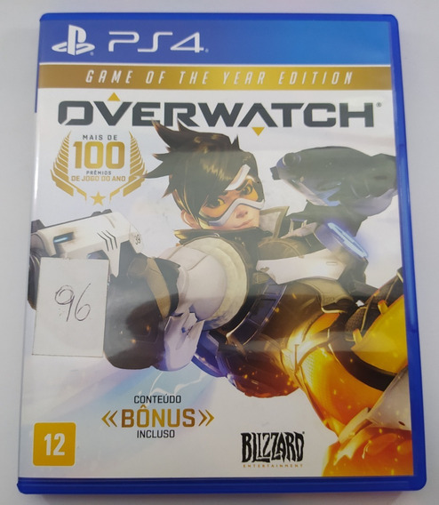 Overwatch Ps4 Mídia Física Usado Game Of The Year Edition
