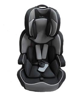 Baby One Booster C/respaldo Y Cinturon Negro C/gris Lb-517b