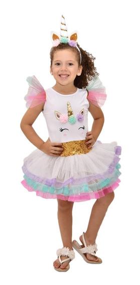 Disfraz De Unicornio Niña Importado Unicorn Tutu Vestido