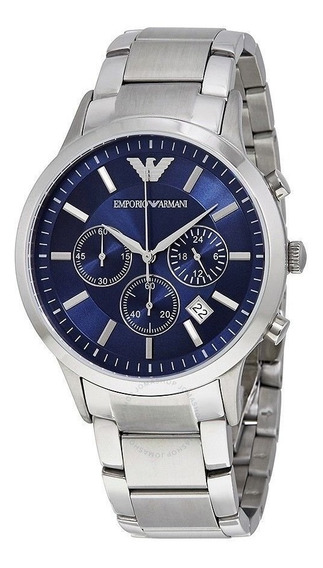 Reloj Emporio Armani Ar2448 Blue Chronograph 43mm For Men
