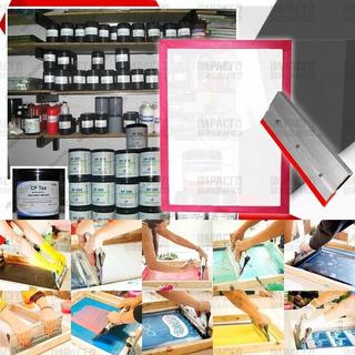 Kit Serigrafia P/estampar Remeras Bolsas De Friselina Papel