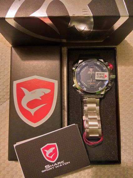 Reloj Shark Silver Nuevo Original
