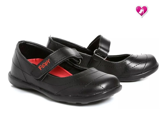 Guillermina Escolar Kids Cuero Modelo Flopy By Shoes Bayres