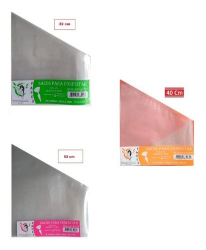 Saco Confeitar Descartavel- Kit P+m+g Com20und Por Modelo.