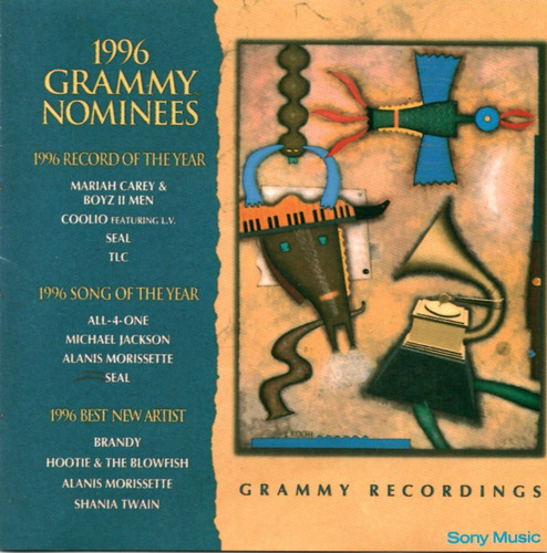 1996 Grammy Nominees Cd Orig Michael Jackson Coolio Seal Tlc