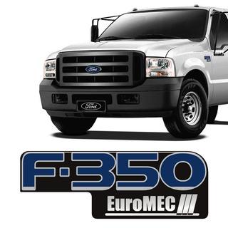 Adesivo Resinado Emblema Ford F350 Euromec Modelo Original